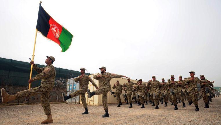 Afghaanse politie in Herat. Beeld null