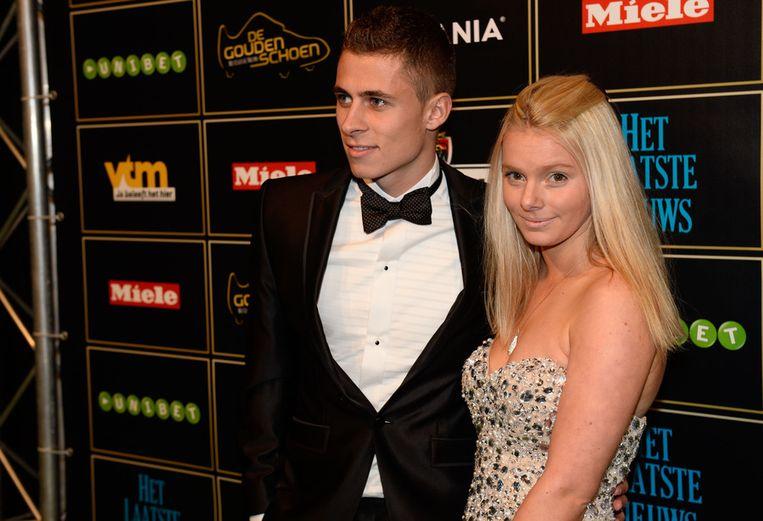 Thorgan Hazard met zijn vriendin Marie.