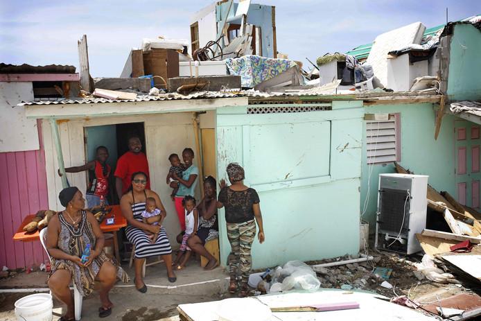 Veel huizen op Sint-Maarten zijn beschadigd of verwoest door orkaan Irma.