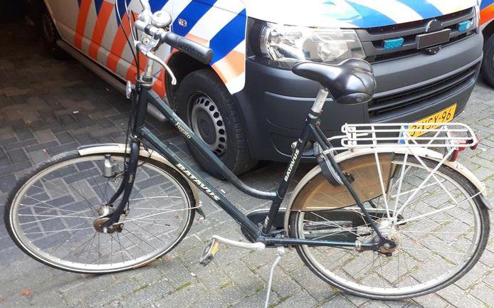 De fiets van een van de verdachten.