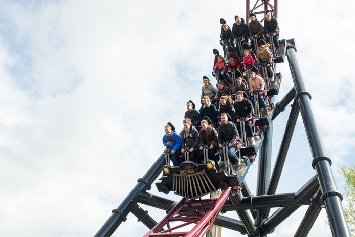 Achtbaan Gold Rush in attractiepark Slagharen.
