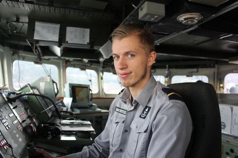 Aan boord van de fregat Louise-Marie Yens Cartrysse uit oost-Vlaanderen