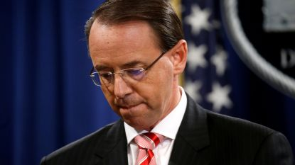 """""""Amerikaanse minister van Justitie Rosenstein stapt op"""""""