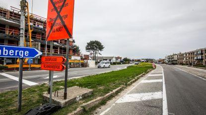N34 afgesloten door gaslek aan wegenwerken, ook geen kusttram