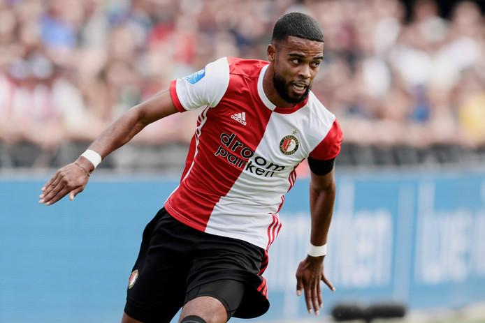 Jeremiah St. Juste in actie namens Feyenoord tegen Sparta afgelopen zondag.
