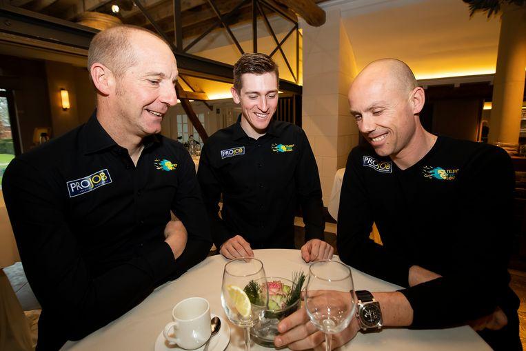 Kris Wouters (links) met Toon Aerts en Sven Nys.