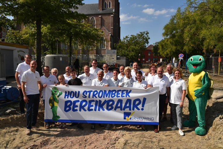 Vernieuwing voert actie in het centrum van Strombeek.
