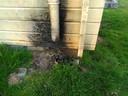 Brandschade bij het toiletgebouw bij recreatieplas Wylerbergmeer.