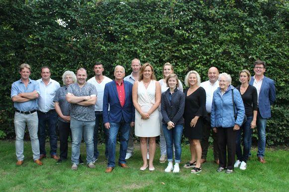 Het team waarmee Damse Belangen op 14 oktober naar de kiezer trekt.