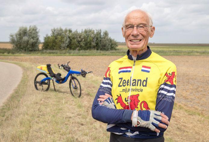 Jaap Bouman uit Goes gaat zondag als oudste deelnemer uit Nederland van start bij de fietstocht Parijs-Brest-Parijs.