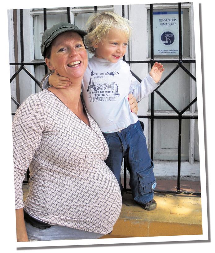 Teun was twee toen Mireille Steenkamer en haar vriend aan de reis begonnen.