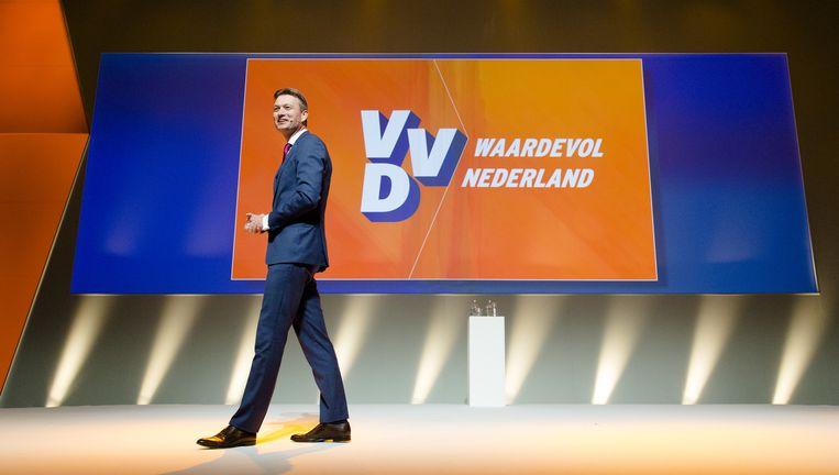 Halbe Zijlstra tijdens het partijcongres van de VVD in Leeuwarden. Beeld anp