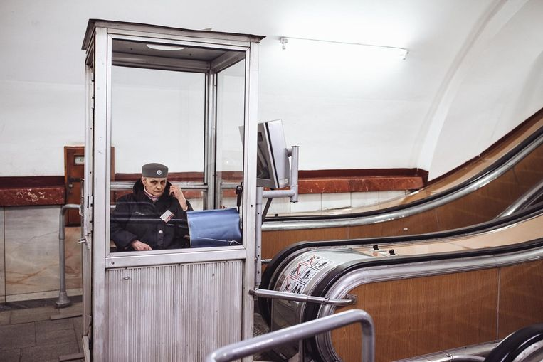 Een 'grootmoedertje van de metro' Beeld null
