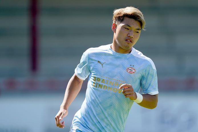 Ritsu Doan tijdens SC Verl-PSV.