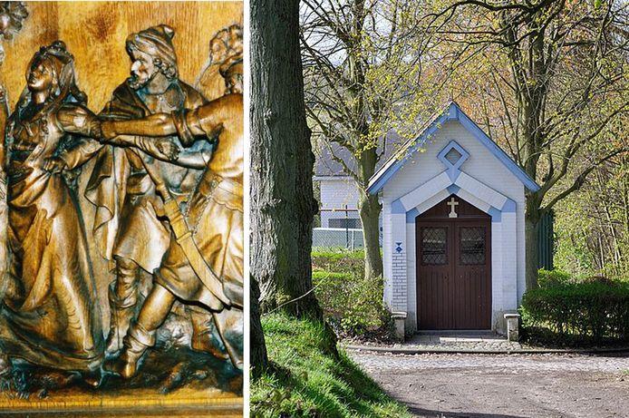 De heilige Sint-Alena laat nog steeds haar sporen na  in het straatbeeld van Dilbeek.
