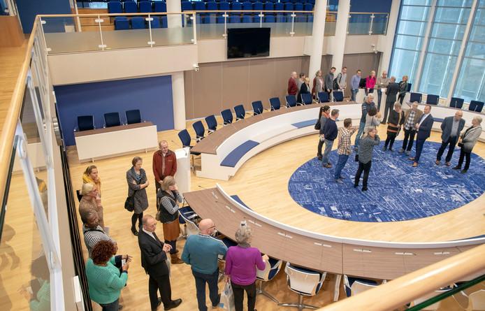 De vergaderzaal van de Veenendaalse gemeenteraad.