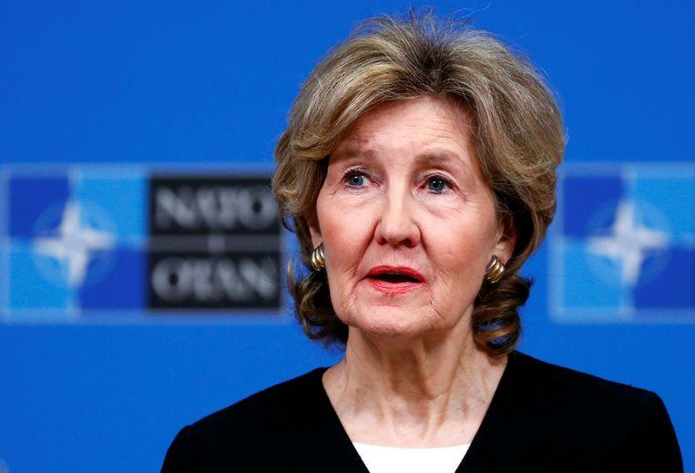 Kay Bailey Hutchison is een voormalige Republikeinse Senator uit Texas. Ze is nu iets langer dan een jaar Trumps NAVO-ambassadeur.