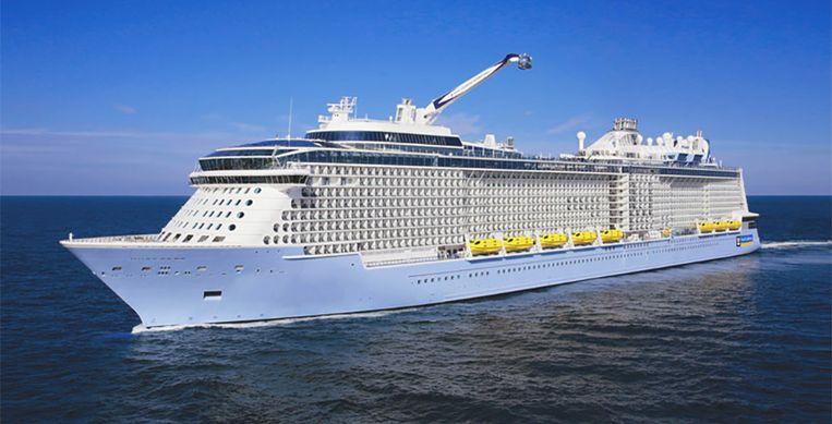 Cruiseschip 'Ovation of the Seas', waarop momenteel een ziekteplaag is uitgebroken