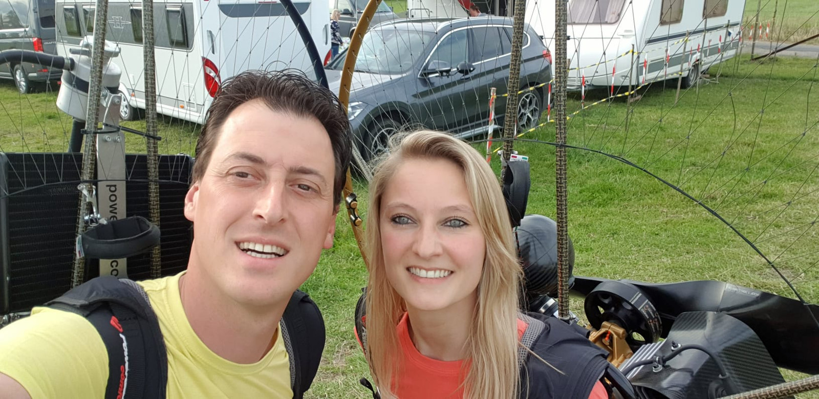 Lydia Jaecques (32) en haar partner, Aymard Demeyere.