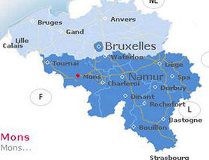 Carte De La Wallonie Belgique.La Wallonie Redessine Aussi La Carte De La Belgique Home