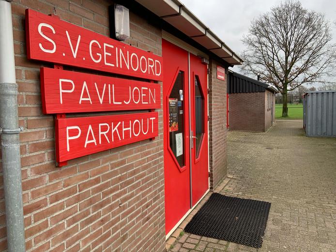 Het clubhuis van voetbalvereniging Geinoord in Nieuwegein