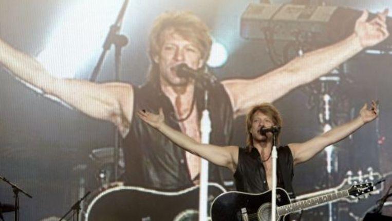 Jon Bon Jovi tijdens een optreden in Madrid in juni. ANP Beeld