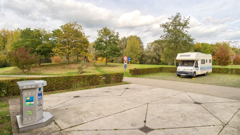 Camperplaatsen in Aalst.
