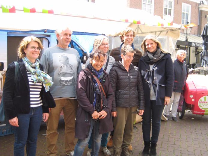 De groene lintjes werden in Culemborg uitgereikt:Sophie Schut, Arno Kerkdijk, Norine Maniran, Jenny Senhorst, Marianne Coenmans, Tim de Kroon en Susanna van Citters