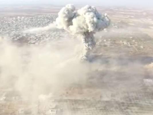 De aanslag werd ook met een drone gefilmd.