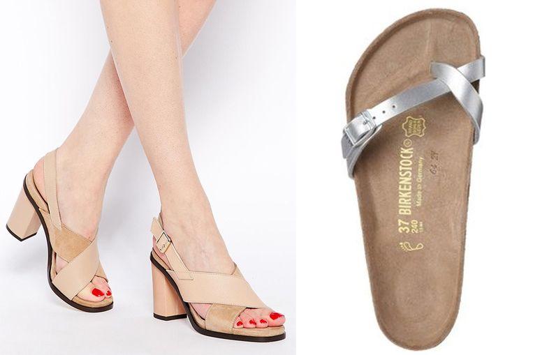 Deze sandalen tonen het mooiste deel van je voeten, deze slippers verstoppen eventuele hamertenen.