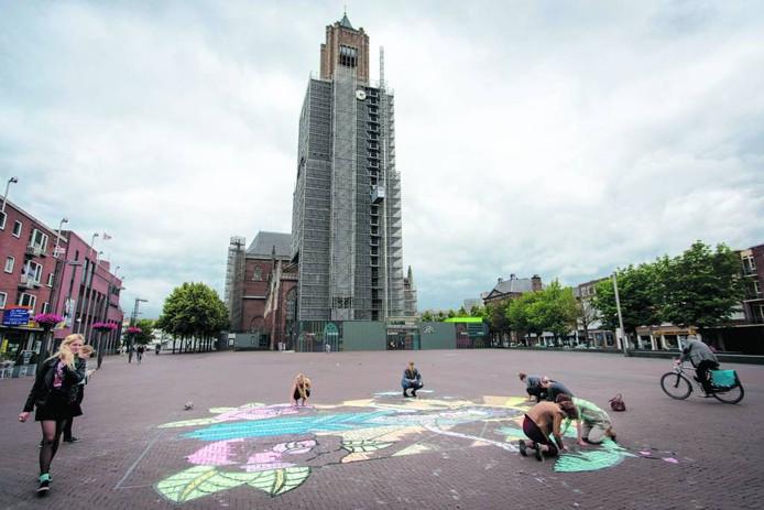 Het Kerkplein in Arnhem.