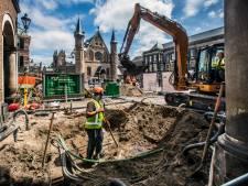 Middeleeuws muurtje gevonden bij opgravingen bij het Binnenhof