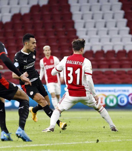 Samenvatting   PSV pakt dankzij twee goals van Zahavi punt in boeiende topper met Ajax