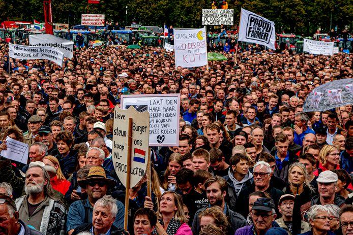 1 oktober 2019: Boeren protesteren op het Malieveld in Den Haag onder de naam #Agractie.