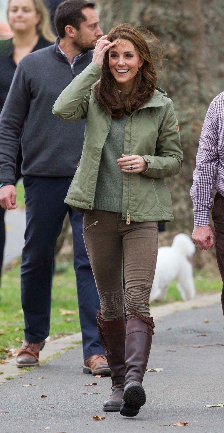 Kate haalde voor de gelegenheid laarzen uit de kast die ze al zeker veertien jaar lang in haar bezit heeft.