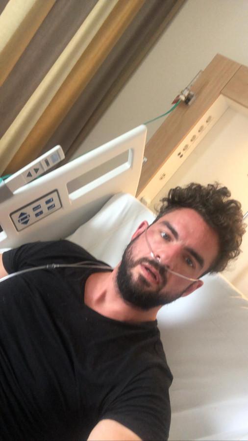 Matthieu Onderdijk in het Catharina Ziekenhuis.