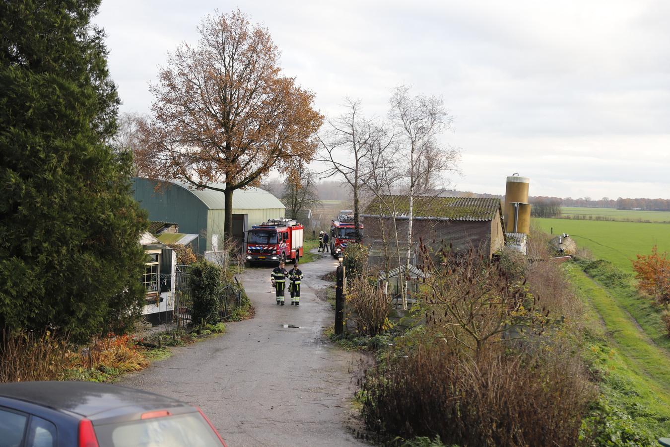 Brand in een schuur in Velp.