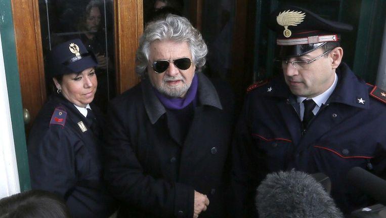 Komiek Beppe Grillo lijkt het verrassend goed te hebben gedaan. Beeld ANP