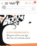 De homepage van het nieuwe V&D, smartphoneformaat.