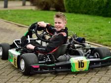 Tim van Elleswijk (12) uit Waddinxveen rijdt straks zijn eerste autorace