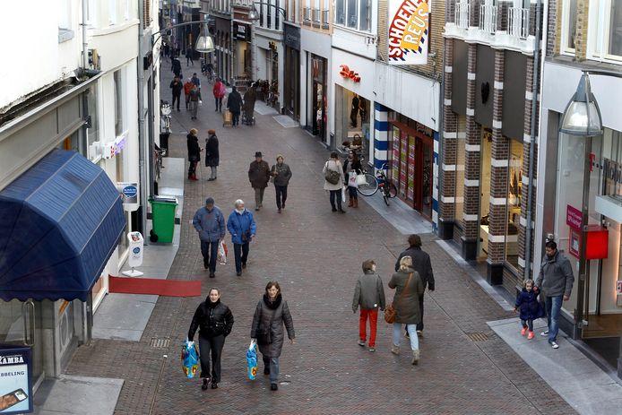 De Lange Bisschopsstraat in Deventer.