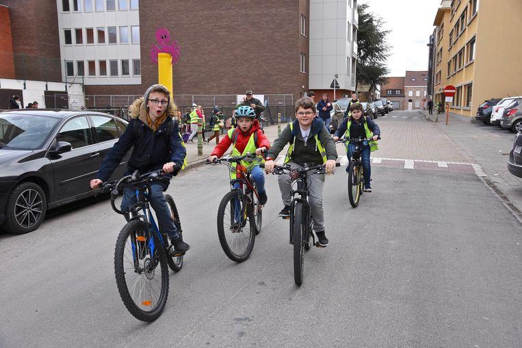De Sint-Jorisstraat aan basisschool De Graankorrel wordt na de paasvakantie een schoolstraat.
