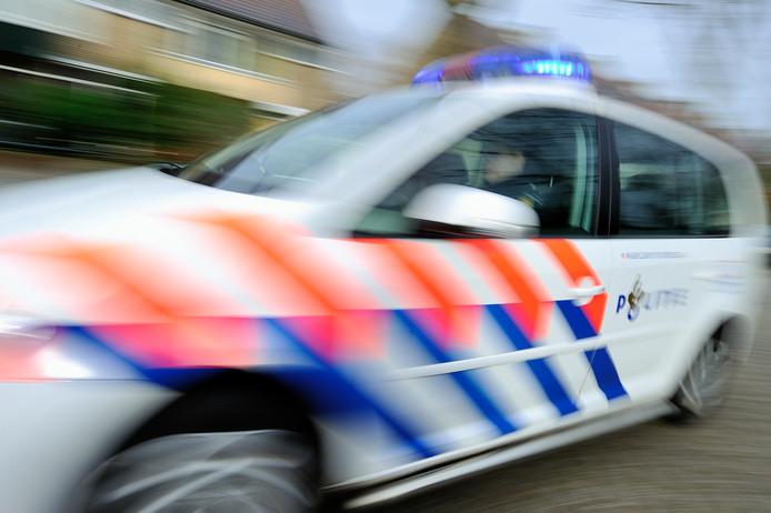 politie stock politieauto zwaailicht