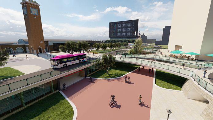Stationsplein Nijmegen visual overzicht