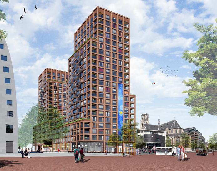 Het ontwerp van Sjoerd Berghuis. Zijn plan is onlangs opzij geschoven.