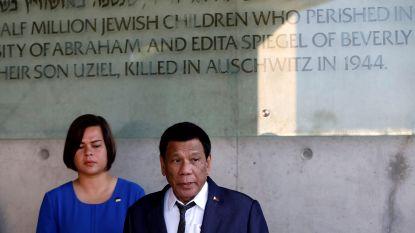 """Duterte noemt Hitler """"krankzinnig"""" tijdens bezoek aan Holocaust-monument"""