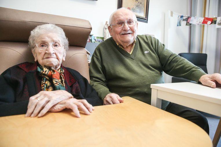 Het oudste koppel van het land was jarig op 1 januari, Alma en Noël vierden toen hun 101ste en 100ste verjaardag.