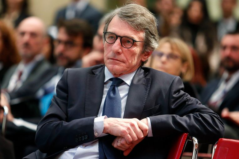 Parlementsvoorzitter David Sassoli.