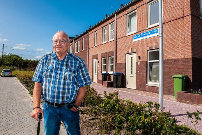 Wim Baas op de plek waar het slachthuis stond.