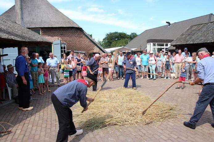Het boerderijmuseum in Oldebroek houdt op het Oogstfeest allerlei activiteiten die in het teken staan van de oogst en het agrarische leven.